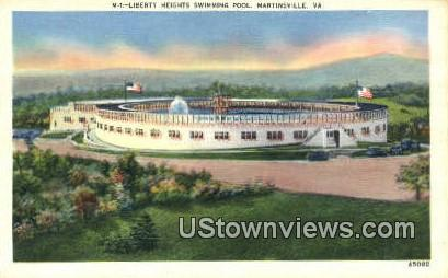 Liberty Swimming Pool  - Martinsville, Virginia VA Postcard