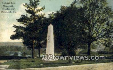 Fitzhugh Lee Monument  - Richmond, Virginia VA Postcard
