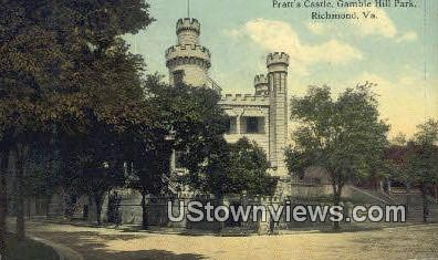 Pratt's Castle Gamble Hill Park  - Richmond, Virginia VA Postcard