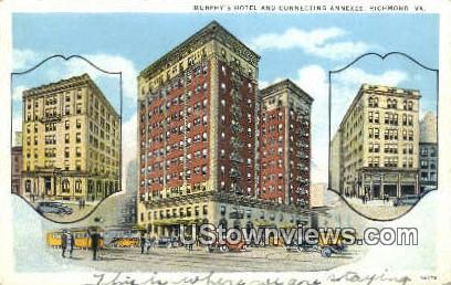 Murphy's Hotel Connecting Annexes  - Richmond, Virginia VA Postcard