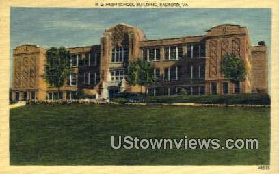 High School Building  - Radford, Virginia VA Postcard