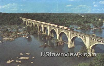 The Auto Train  - Richmond, Virginia VA Postcard