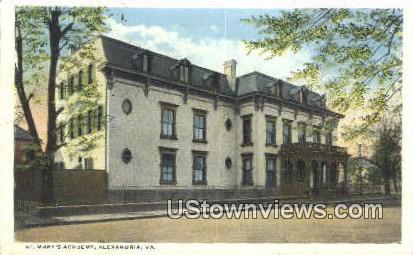 St Marys Academy  - Alexandria, Virginia VA Postcard