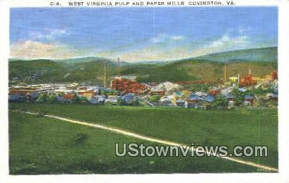West Virginia And Paper Mills  - Covington Postcard