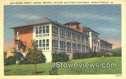 George Wright Memorial Building  - Charlottesville, Virginia VA Postcard