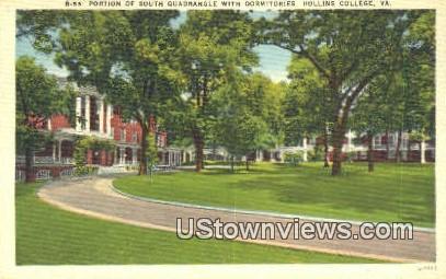 South Quadrangle With Dorms  - Hollins College, Virginia VA Postcard