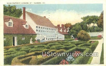Washingtons Garden  - Mount Vernon, Virginia VA Postcard