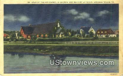 Star Of The Sea Church  And Rectory  - Virginia Beach Postcards, Virginia VA Postcard