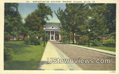 Roanoke College  - Salem, Virginia VA Postcard