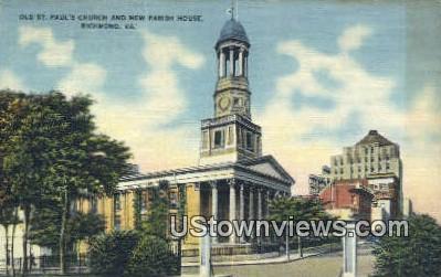 Old St Pauls  - Richmond, Virginia VA Postcard