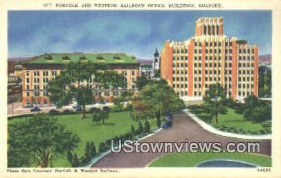 Norfolk And Western Railroad - Roanoke, Virginia VA Postcard