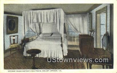 George Washingtons Bed Room  - Mount Vernon, Virginia VA Postcard