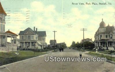 Street View Park Place  - Norfolk, Virginia VA Postcard