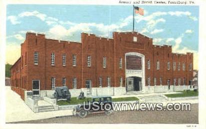 Armory And Health Center  - Petersburg, Virginia VA Postcard