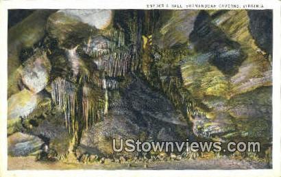 Snyder's Hall  - Shenandoah Caverns, Virginia VA Postcard