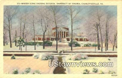 Rotunda University Of Virginia  - Charlottesville Postcard