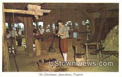 The Glasshouse  - Jamestown, Virginia VA Postcard