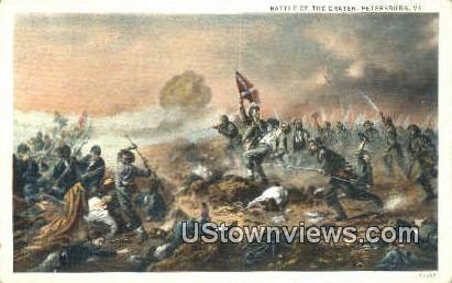 Battle Of The Craters  - Petersburg, Virginia VA Postcard
