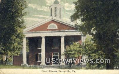 Court House  - Berryville, Virginia VA Postcard