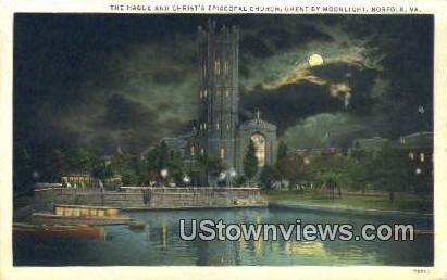 Hague & Christ Episcopal Church  - Norfolk, Virginia VA Postcard