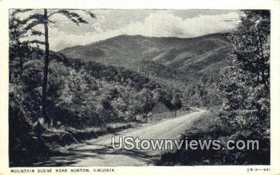 Mountain Scene  - Norton, Virginia VA Postcard