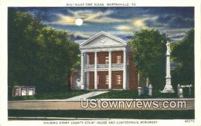 Henry County Court House - Martinsville, Virginia VA Postcard