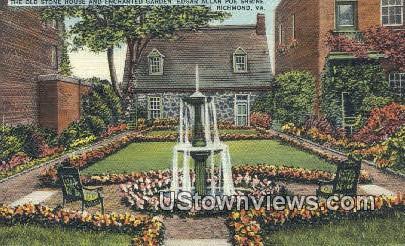 Old Stone House & Enchanted Garden  - Richmond, Virginia VA Postcard