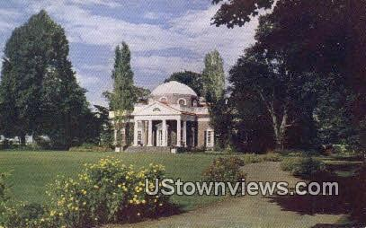 Monticello Home of Thomas Jefferson  - Charlottesville, Virginia VA Postcard