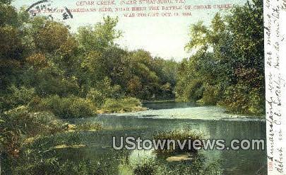 Cedar Creek  - Statsburg, Virginia VA Postcard