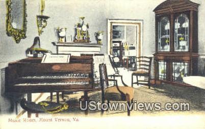 Music Room  - Mount Vernon, Virginia VA Postcard