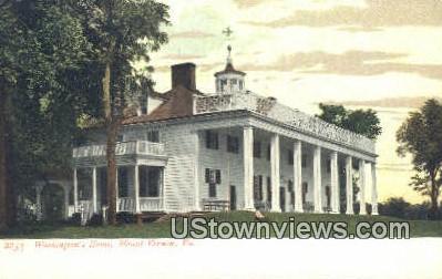 Washingtons Home  - Mount Vernon, Virginia VA Postcard