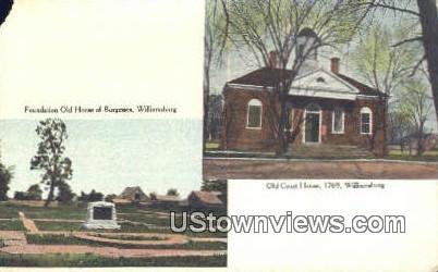 Old House Of Burgesses  - Williamsburg, Virginia VA Postcard
