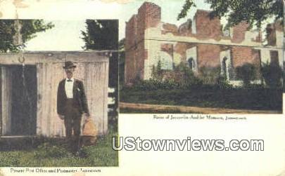 Post Office And Post Maker  - Jamestown, Virginia VA Postcard