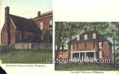 First Debtors Prison In American  - Williamsburg, Virginia VA Postcard