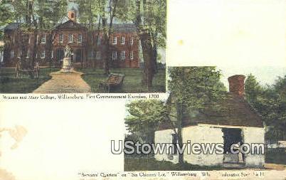 William And Marys College  - Williamsburg, Virginia VA Postcard