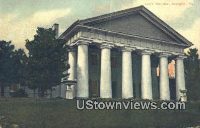 Lees Mansion  - Arlington, Virginia VA Postcard