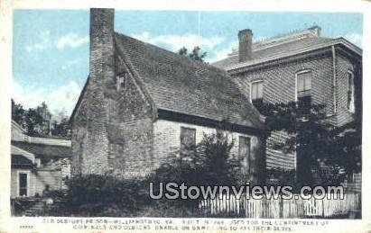 Oldest Debtors Prison  - Williamsburg, Virginia VA Postcard