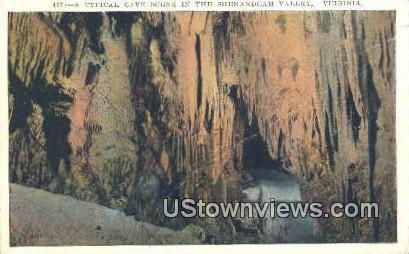 A Typical Cave Scene  - Shenandoah Valley, Virginia VA Postcard