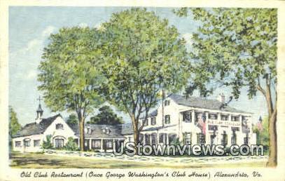 Old Club Restaurant  - Alexandria, Virginia VA Postcard