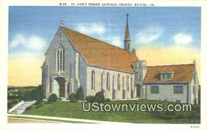 St Anns Roman Catholic Church  - Bristol, Virginia VA Postcard