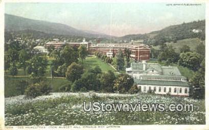 The Homestead From Sunset Hill  - Hot Springs, Virginia VA Postcard