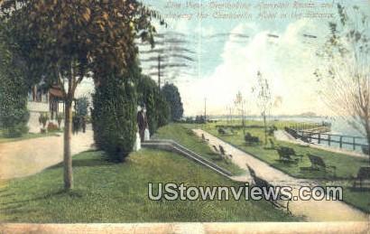 Overlooking Hampton Roads  - Virginia VA Postcard