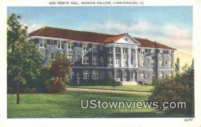 Senior Hall  Madison College  - Harrisonburg, Virginia VA Postcard