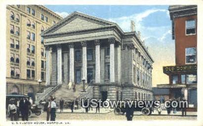 US Custom House  - Norfolk, Virginia VA Postcard