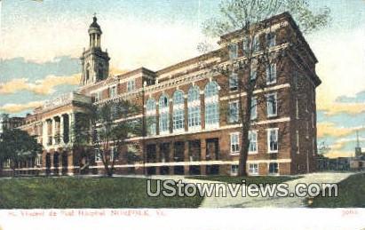 St Vincent De Paul Hospital  - Norfolk, Virginia VA Postcard