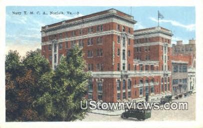 Navy YMCA  - Norfolk, Virginia VA Postcard