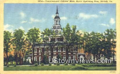 Comminsioned Officers Mess  - Norfolk, Virginia VA Postcard
