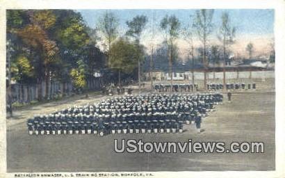 Battalion Enmasse US Training Station  - Norfolk, Virginia VA Postcard