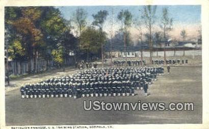 Battlion Enmasse Us Training Station  - Norfolk, Virginia VA Postcard