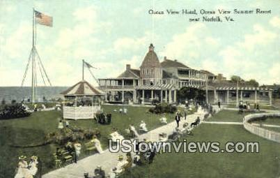 Ocean View Hotel  - Norfolk, Virginia VA Postcard